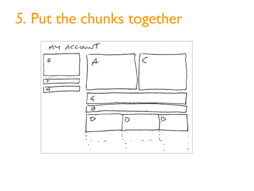 5. Put the chunks together