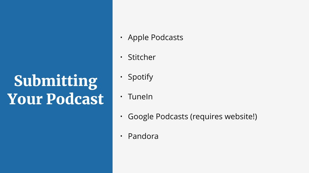 Submitting Your Podcast • Apple Podcasts • Stit...