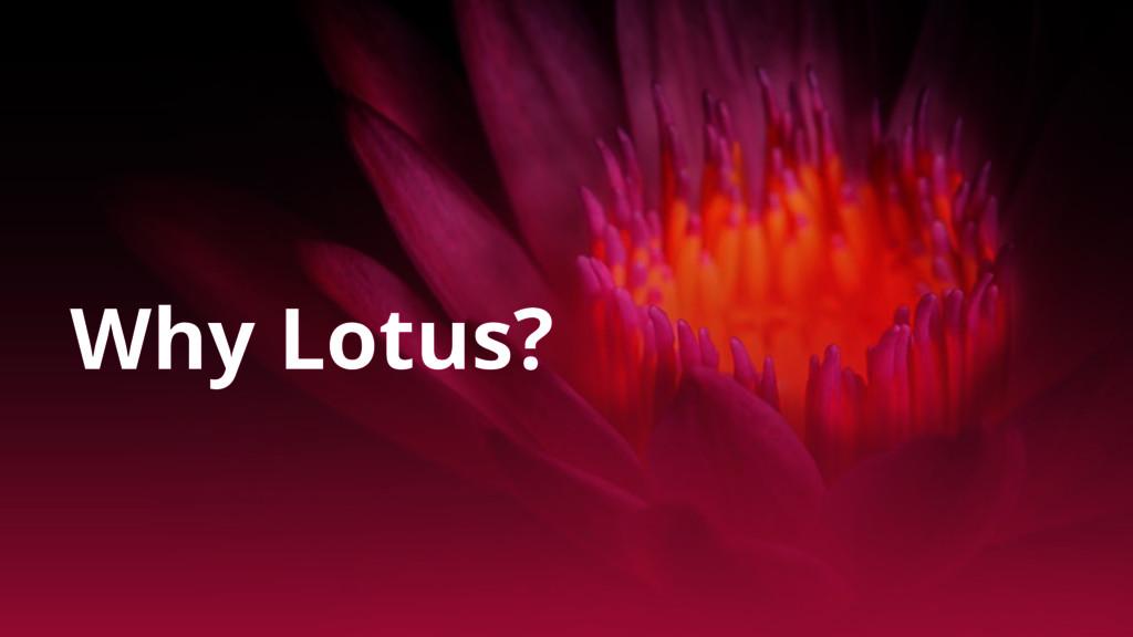 Why Lotus?