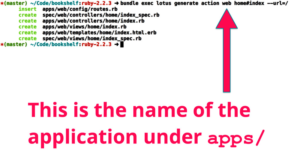 This is the name of the application under apps/