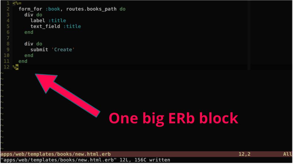 One big ERb block