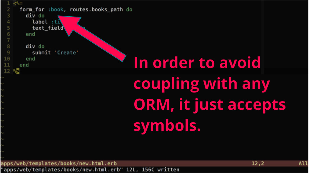 In order to avoid coupling with any ORM, it jus...
