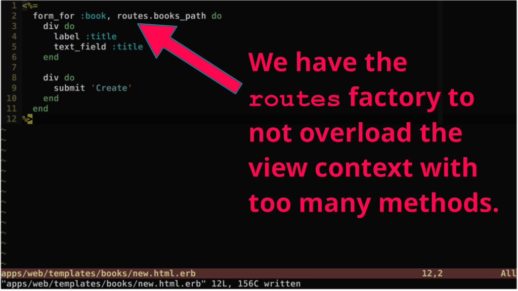We have the routes factory to not overload the ...