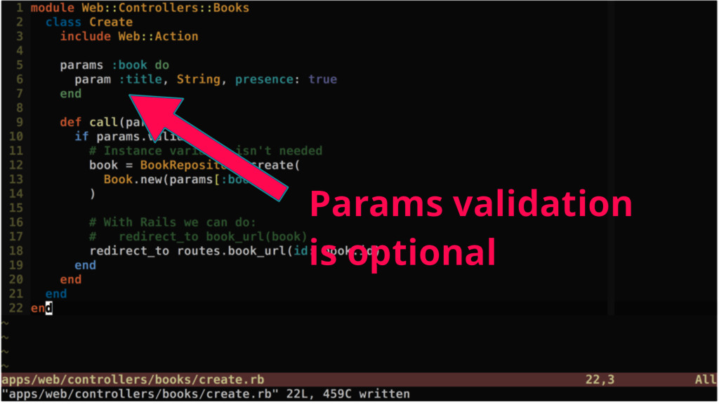 Params validation is optional