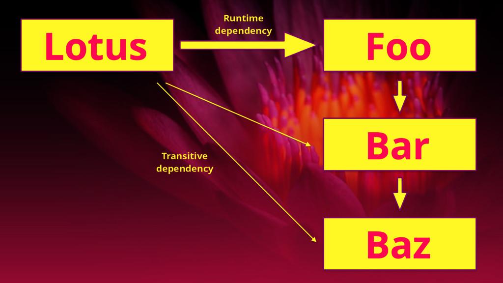 Lotus Foo Bar Baz Runtime dependency Transitive...