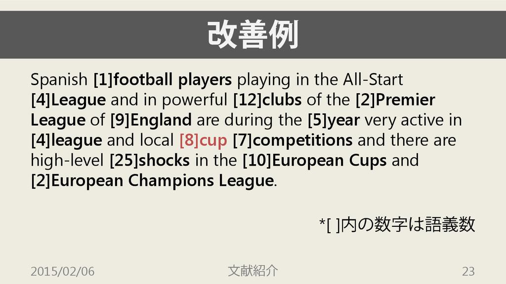 改善例 Spanish [1]football players playing in the ...