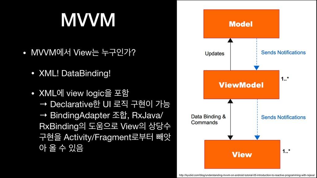MVVM • MVVMীࢲ Viewח ־ҳੋо?  • XML! DataBinding! ...