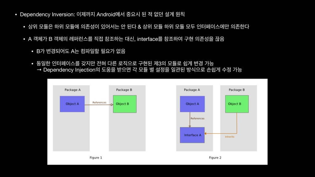 • Dependency Inversion: ઁө Androidীࢲ ਃद ػ  ...