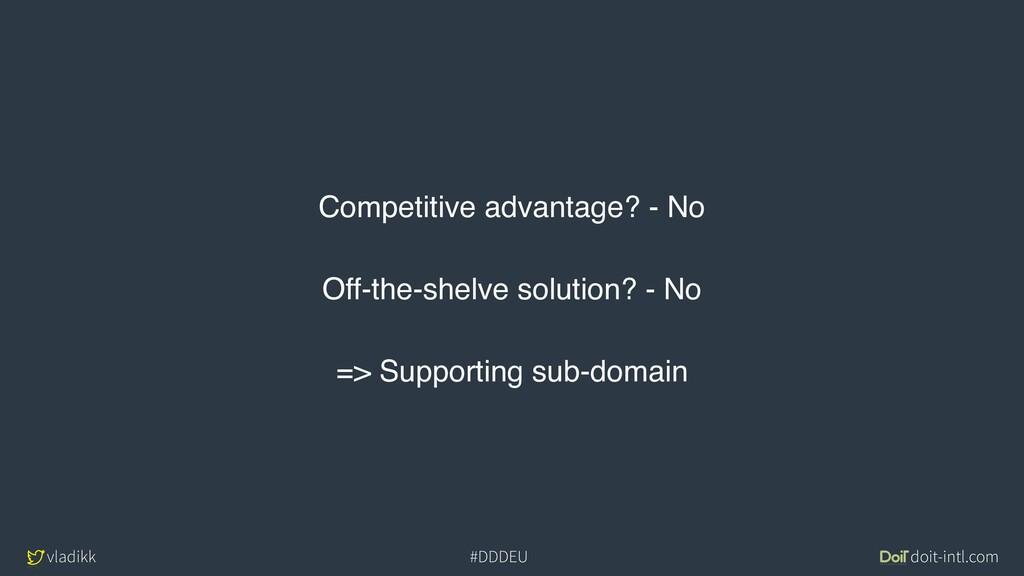 vladikk doit-intl.com #DDDEU Competitive advant...