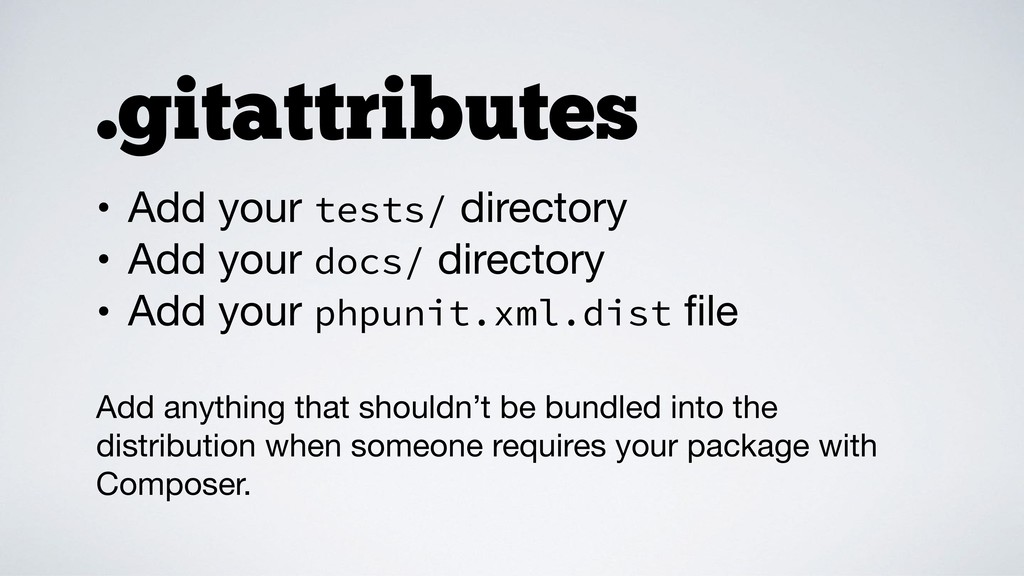 • Add your tests/ directory  • Add your docs/ d...