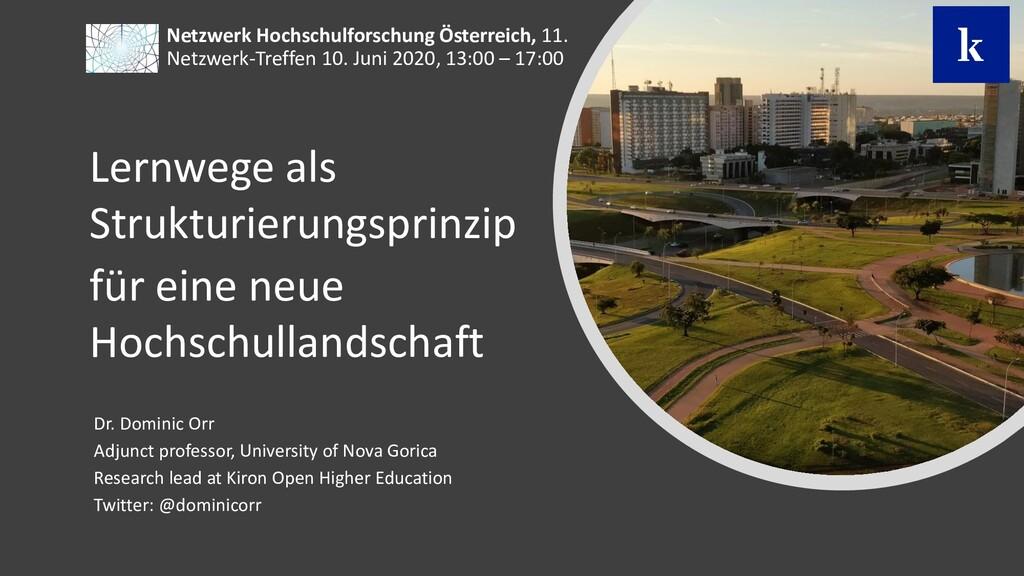 Netzwerk Hochschulforschung Österreich, 11. Net...