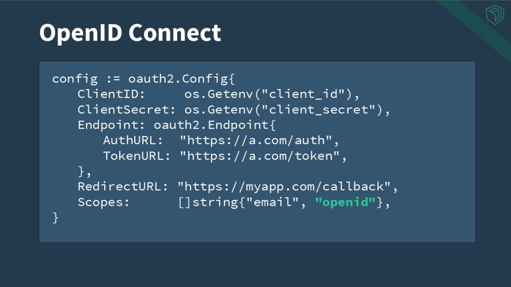 """config := oauth2.Config{ ClientID: os.Getenv(""""c..."""