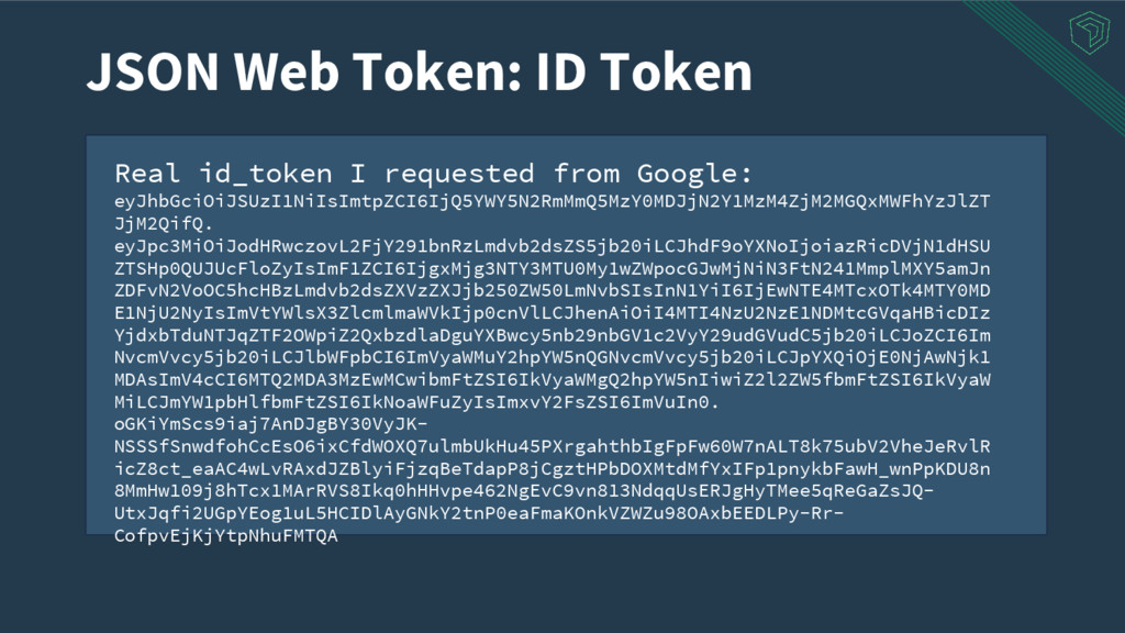 Real id_token I requested from Google: eyJhbGci...