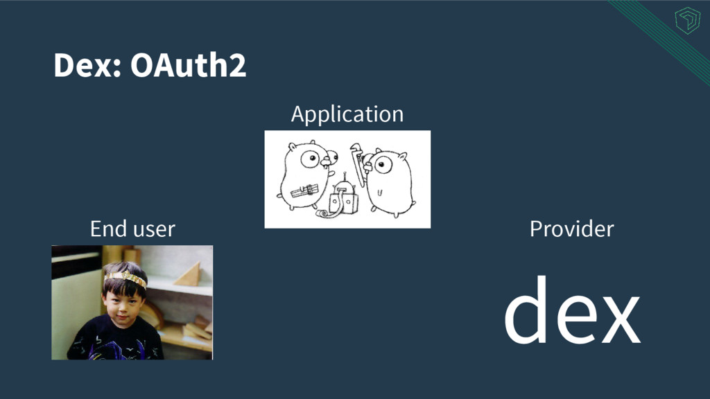Dex: OAuth2 Application End user Provider dex
