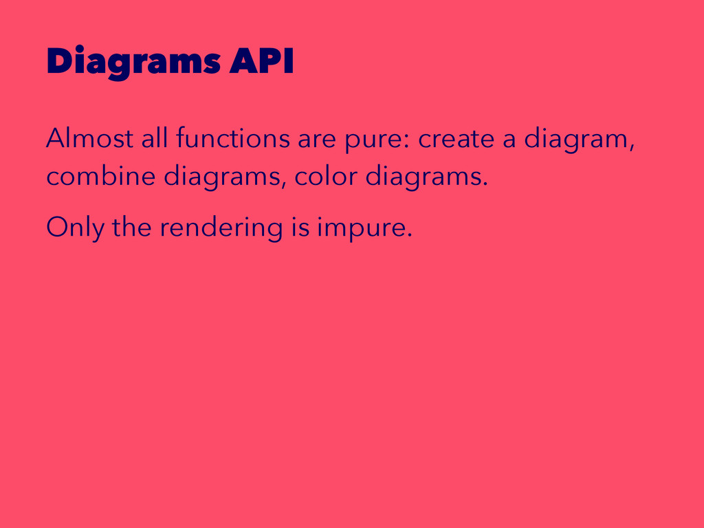 Diagrams API Almost all functions are pure: cre...