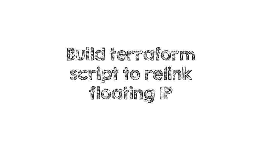 Build terraform script to relink floating IP