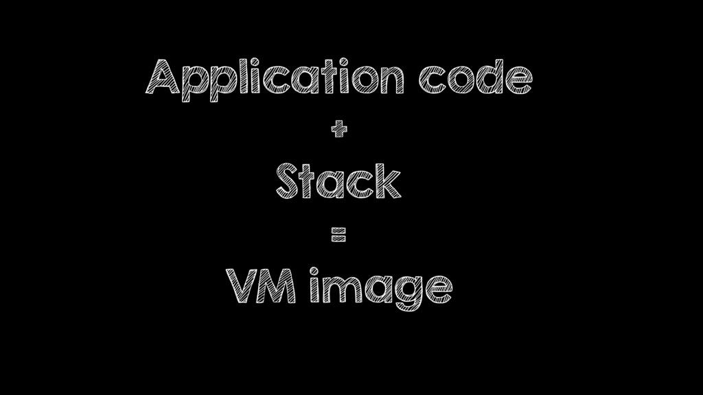 Application code + Stack = VM image