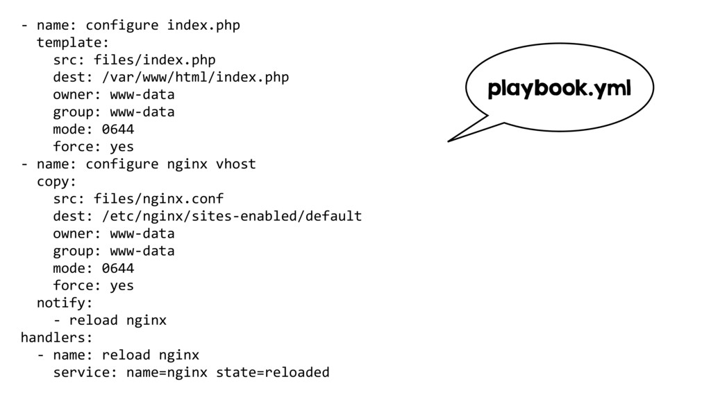 - name: configure index.php template: src: file...