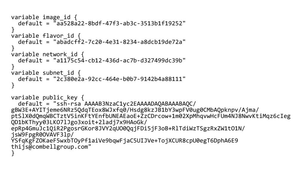 """variable image_id { default = """"aa528a22-8bdf-47..."""