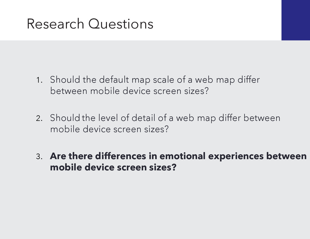 Should the level of detail of a web map differ ...