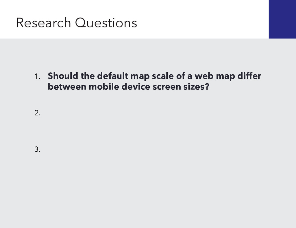 1. Should the default map scale of a web map di...
