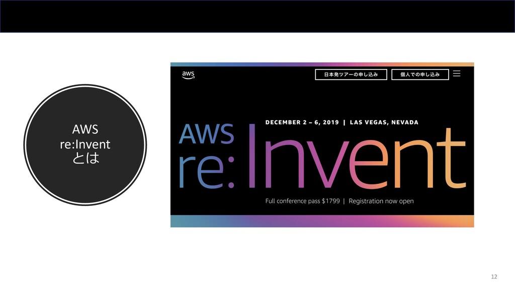 AWS re:Invent とは 12