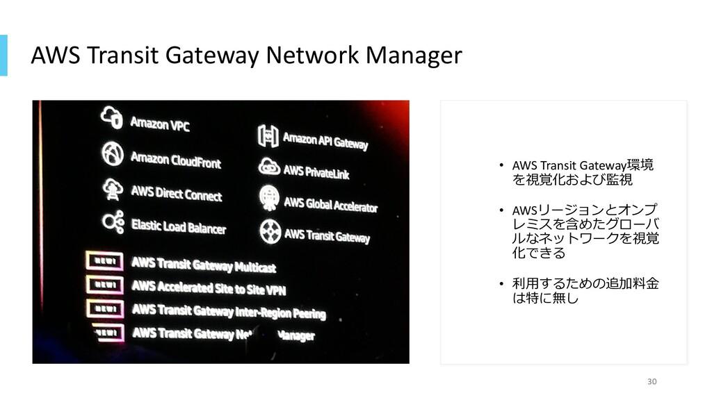 AWS Transit Gateway Network Manager • AWS Trans...