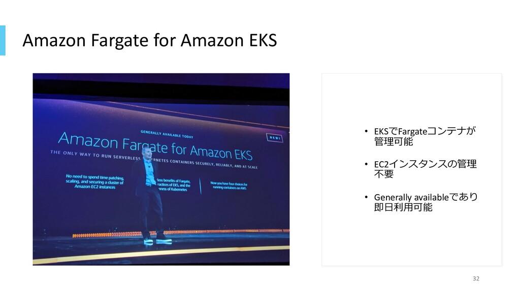 Amazon Fargate for Amazon EKS • EKSでFargateコンテナ...