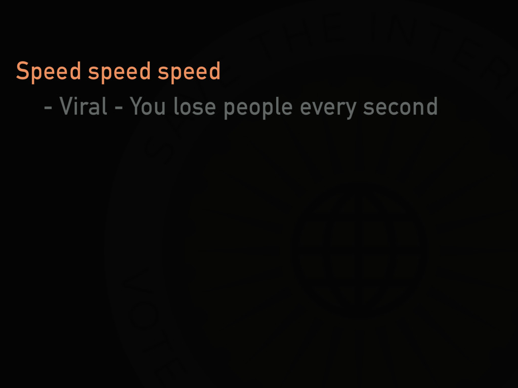Speed speed speed - Viral - You lose people eve...