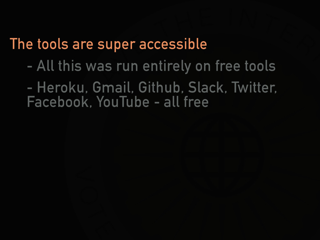 The tools are super accessible - All this was r...