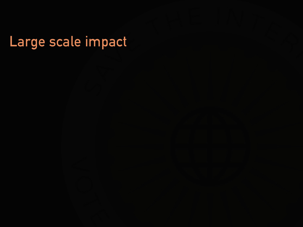 Large scale impact