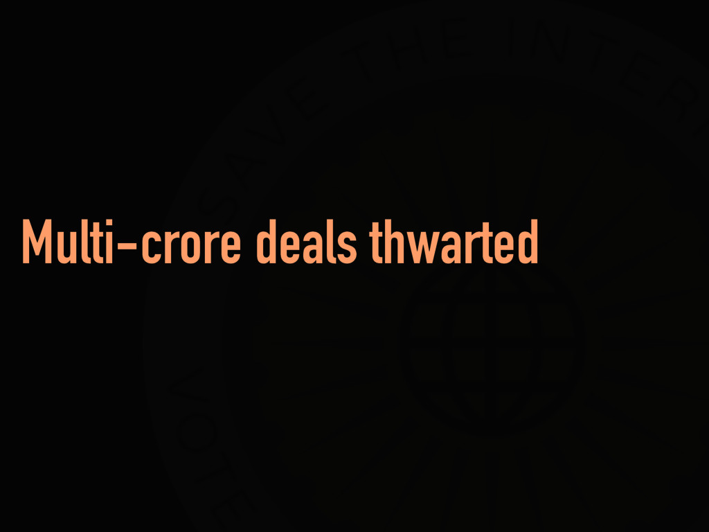 Multi-crore deals thwarted