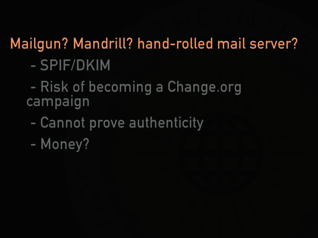 Mailgun? Mandrill? hand-rolled mail server? - S...
