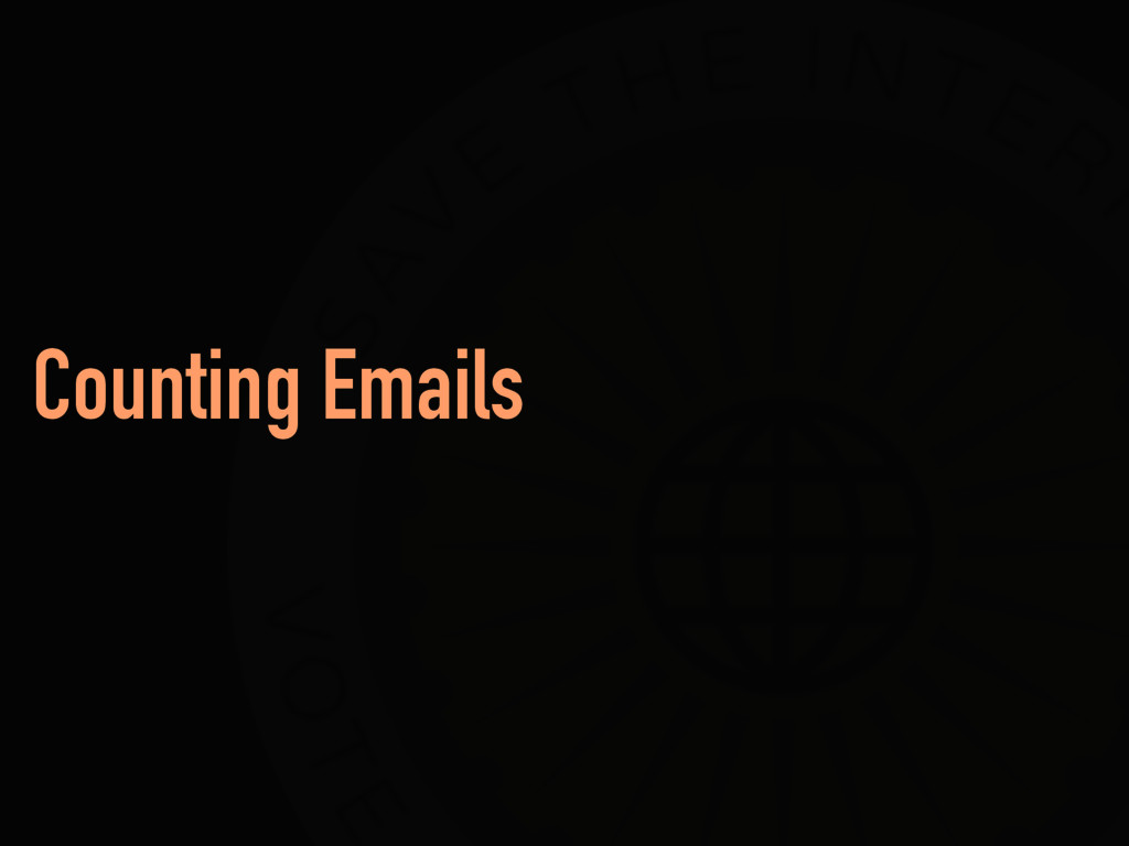 Counting Emails