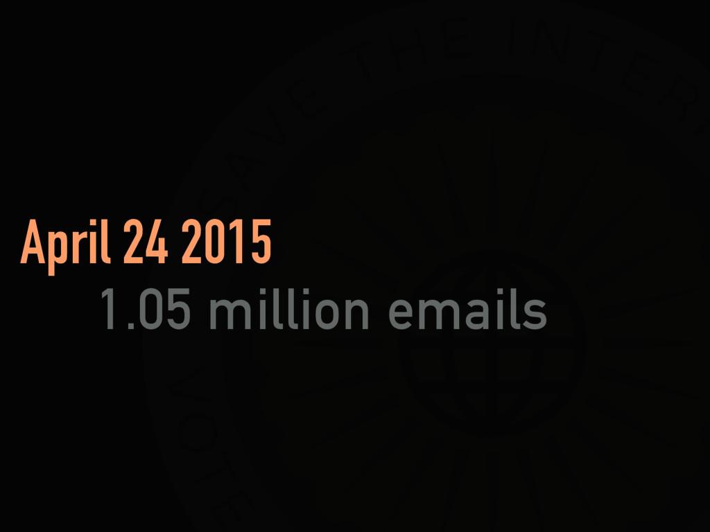 April 24 2015 1.05 million emails
