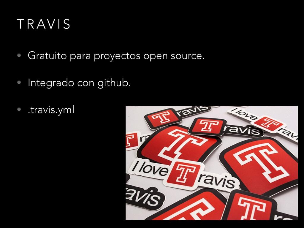T R AV I S • Gratuito para proyectos open sourc...