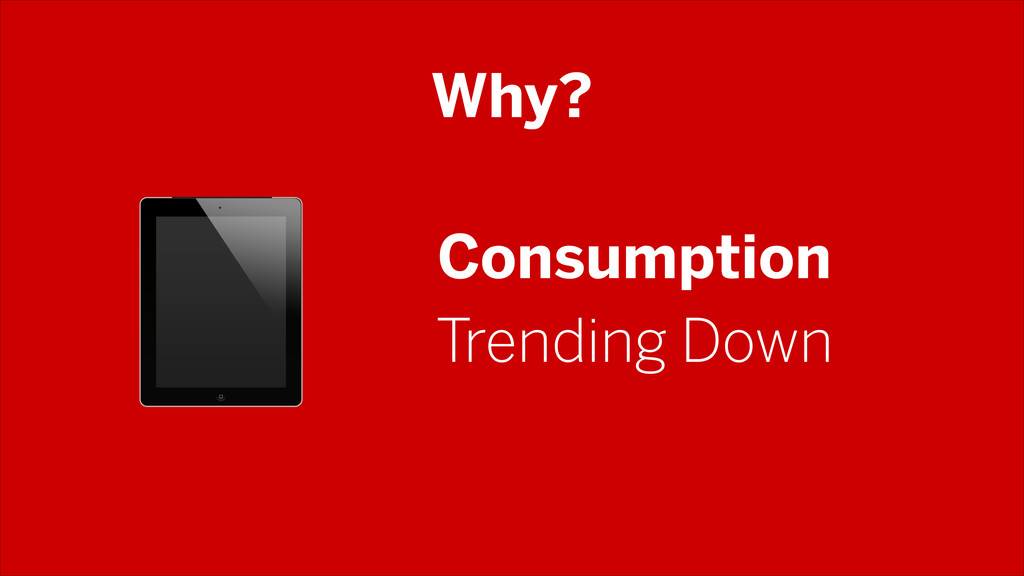 Why? Consumption Trending Down