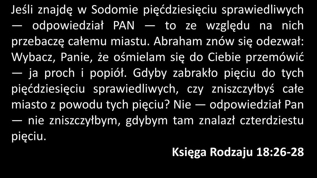 Jeśli znajdę w Sodomie pięćdziesięciu sprawiedl...