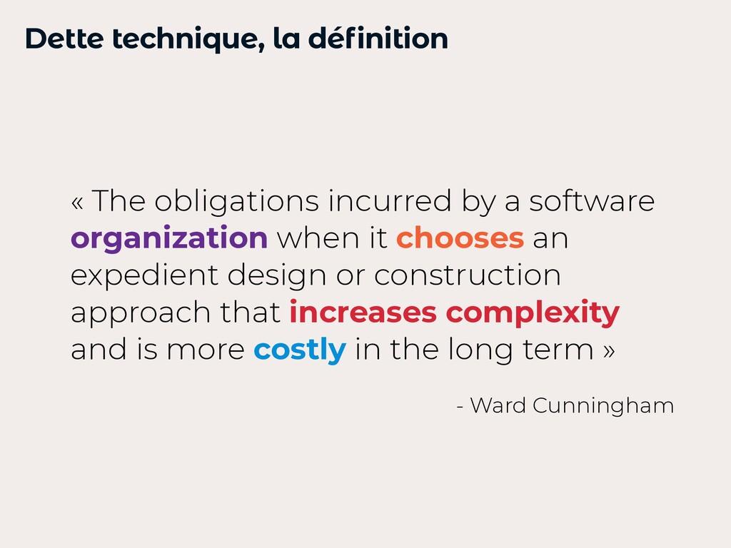 Dette technique, la définition « The obligation...