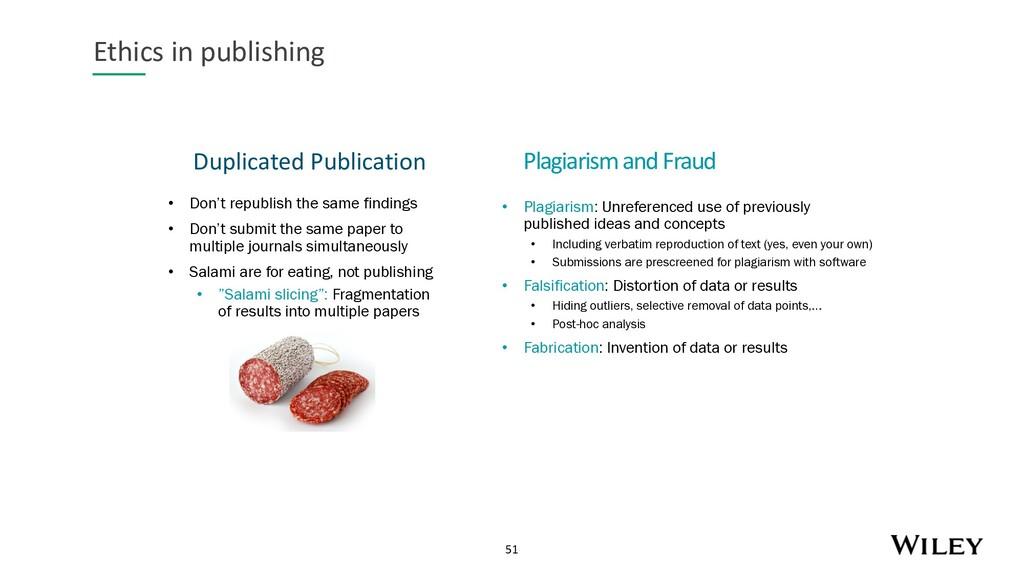 51 Duplicated Publication Ethics in publishing ...