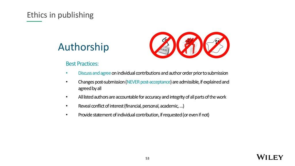53 Authorship Ethics in publishing Best Practic...