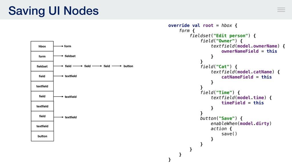 """override val root = hbox { form { fieldset(""""Edi..."""