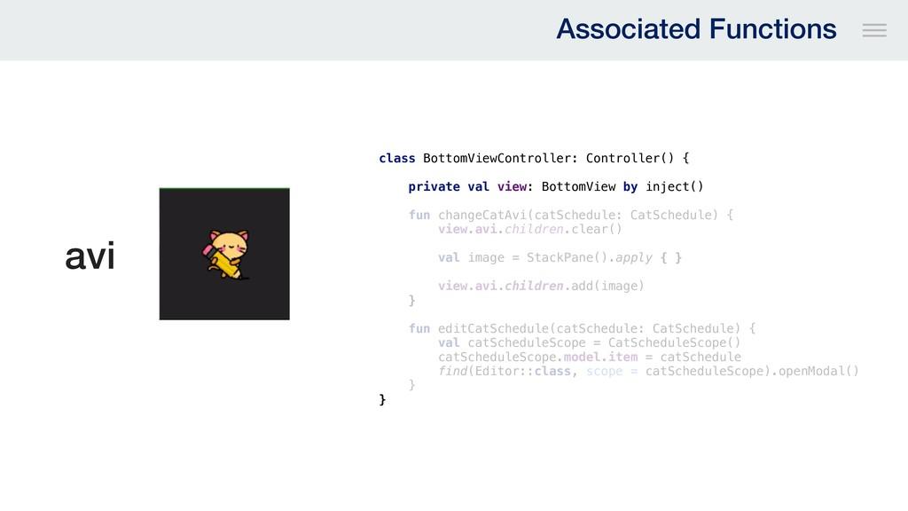avi class BottomViewController: Controller() { ...