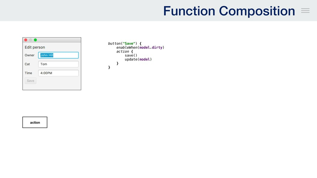 """Function Composition button(""""Save"""") { enableWhe..."""