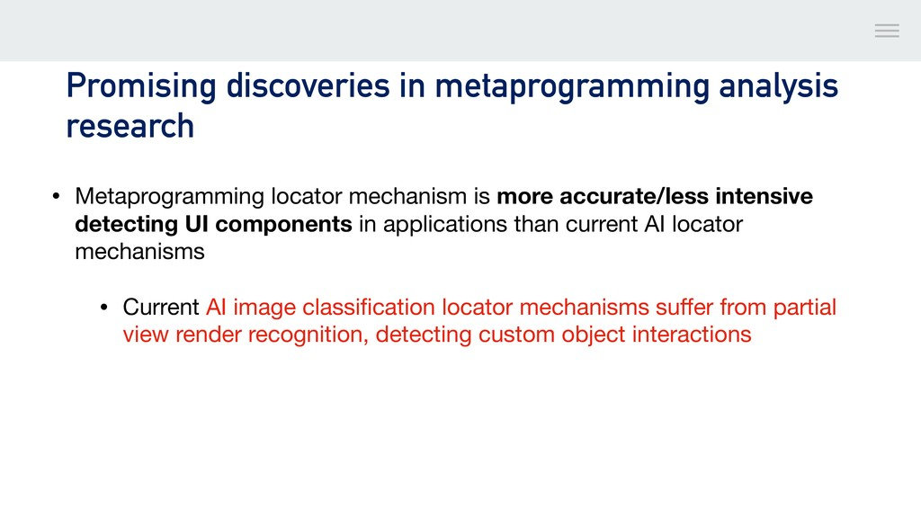Promising discoveries in metaprogramming analys...