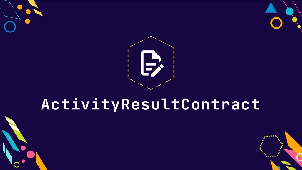 ActivityResultContract