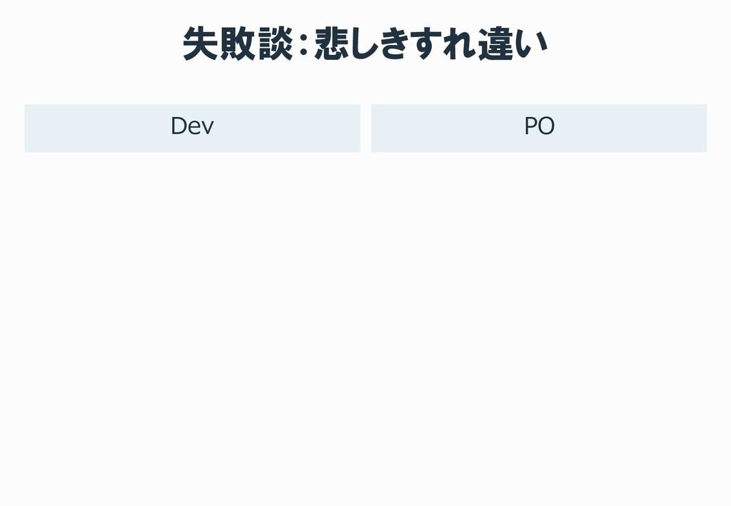 失敗談:悲しきすれ違い PO Dev