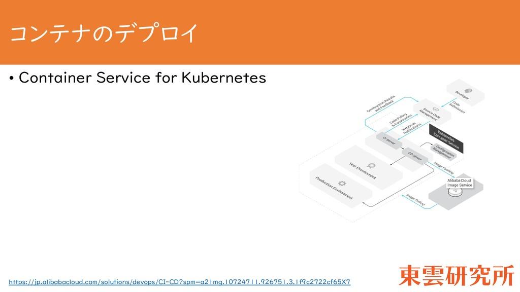 コンテナのデプロイ • Container Service for Kubernetes ht...
