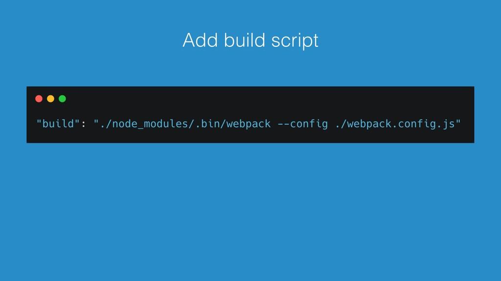 Add build script