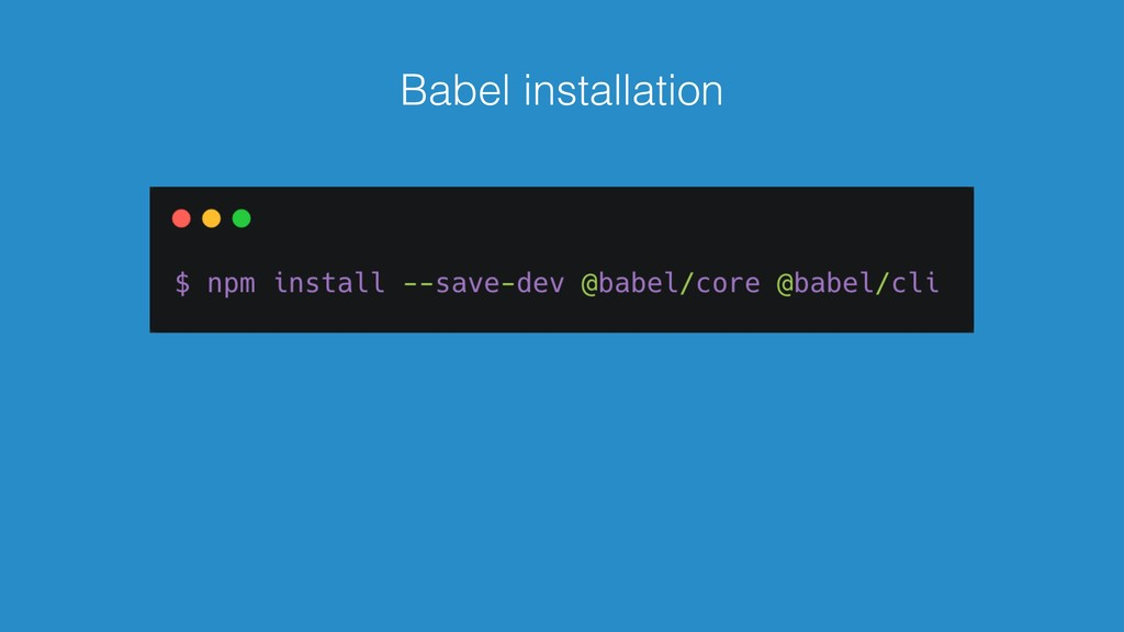Babel installation